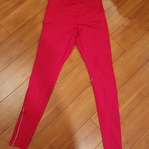 Forever21 red workout leggings size small